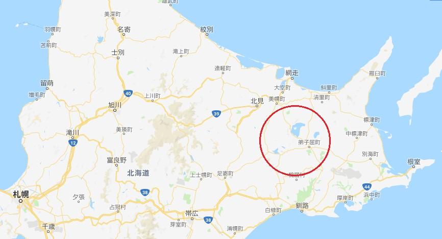 道東三湖位置