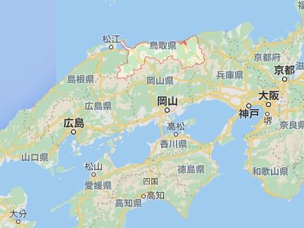 鳥取縣地圖