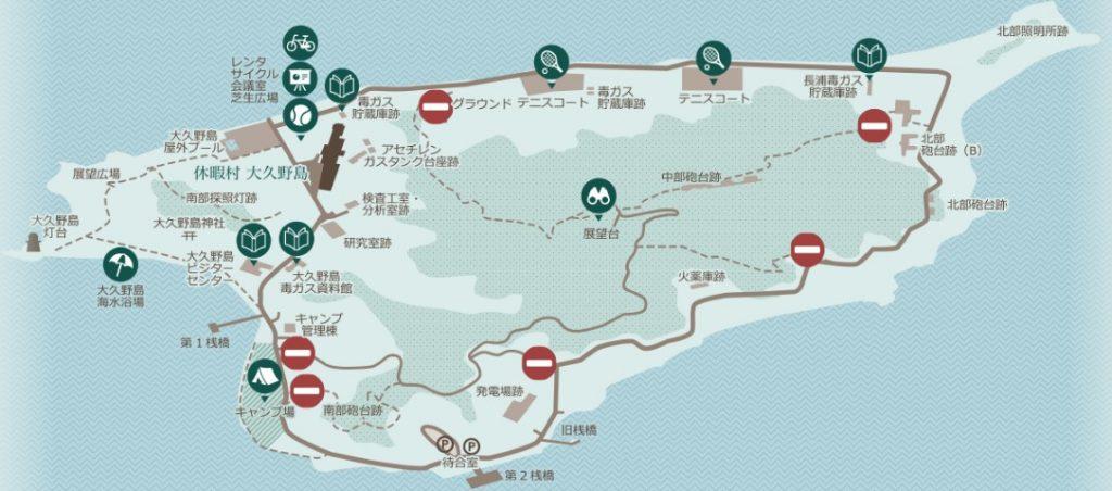 大久野島地圖
